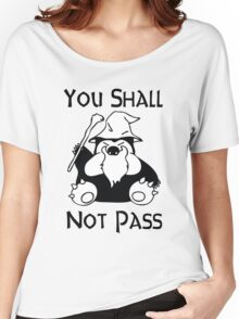 Pokemon Snorlax Quote Women's Relaxed Fit T-Shirt
