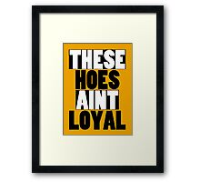 These hoes aint loyal Framed Print