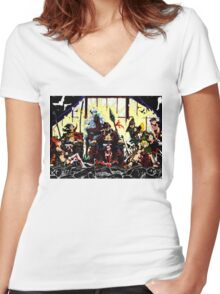 The three kings Women's Fitted V-Neck T-Shirt