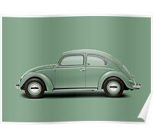 1951 Volkswagen Beetle - Pastel Green Poster