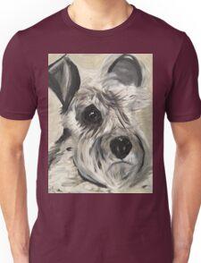 Schnauzer face Unisex T-Shirt