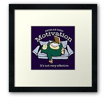 Pokemon Snorlax Motivation Quote Framed Print