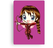 Cupid Katniss- Hunger Games inspired (Love Themed Day Hand-Drawn Illustration) Canvas Print