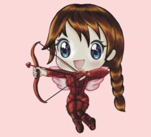 Cupid Katniss- Hunger Games inspired (Valentine's Day Hand-Drawn Illustration) Kids Clothes