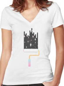 I Show You the Stars Women's Fitted V-Neck T-Shirt