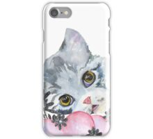 kitten and heart   iPhone Case/Skin