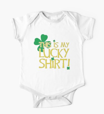 This My Lucky Irish T Shirt One Piece - Short Sleeve