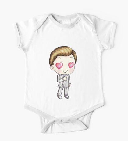 Peeta in Love- Hunger Games inspired (Love Themed Hand-Drawn Illustration ) One Piece - Short Sleeve