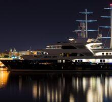 Reflecting on Malta - Luxury Superyachts in Valletta Sticker