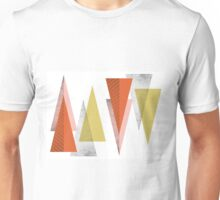 CRAZY GEOMETRIC TRIANGLES Unisex T-Shirt