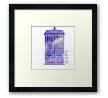 The watercolor time machine  Framed Print