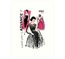 Shocking Pink 50's Art Print