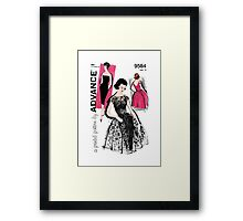 Shocking Pink 50's Framed Print