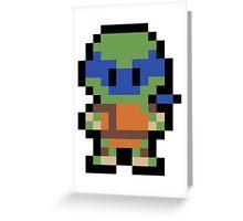 Pixel Leonardo Greeting Card