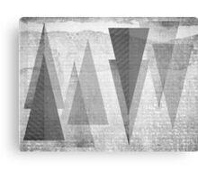GEOMETRIC TEXTURE BNW & TRIANGLES Canvas Print
