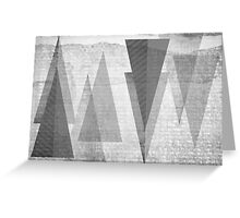 GEOMETRIC TEXTURE BNW & TRIANGLES Greeting Card