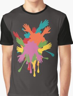 Cartoon Hands with Gestures 3 Graphic T-Shirt