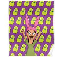 Louise Belcher Light Pattern Purple Poster