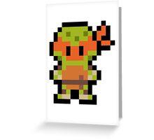 Pixel Michelangelo Greeting Card