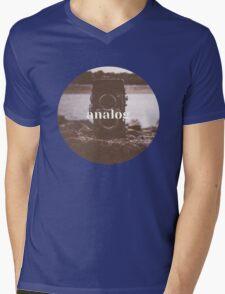 Analog Mens V-Neck T-Shirt