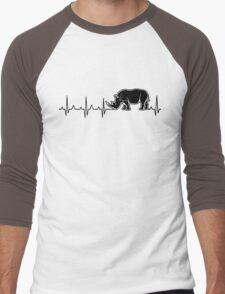 rhino heartbeat Men's Baseball ¾ T-Shirt