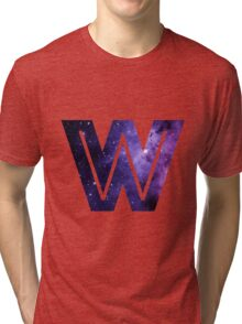 The Letter W - Space Tri-blend T-Shirt
