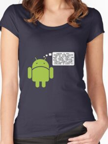 Android Paranoia Women's Fitted Scoop T-Shirt