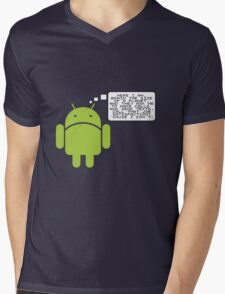 Android Paranoia Mens V-Neck T-Shirt