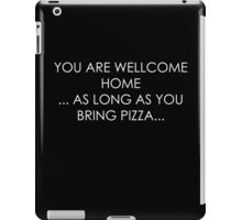 black - pizza poster iPad Case/Skin