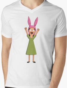 Louise Belcher Light Pattern Black Mens V-Neck T-Shirt