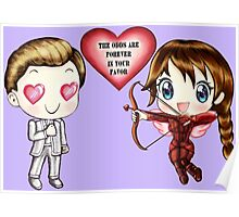 The Cute Version Of The Hunger Games (Love Themed Hand-Drawn Illustration) Poster