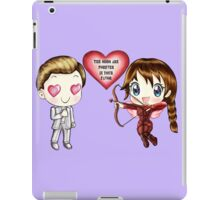 The Cute Version Of The Hunger Games (Love Themed Hand-Drawn Illustration) iPad Case/Skin