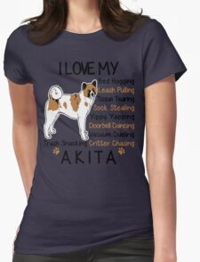 i love akita Womens Fitted T-Shirt