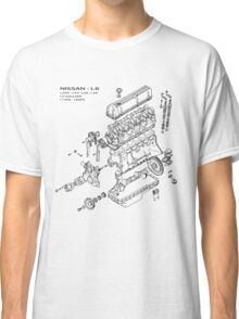 Nissan L6 Exploded View Classic T-Shirt