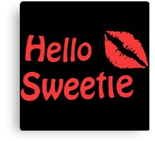 River Song Hello Sweetie Canvas Print