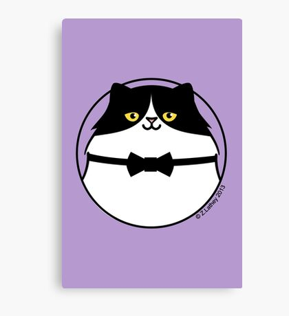 Sophisticated Black & White Cat Canvas Print