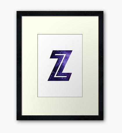 The Letter Z - Space Framed Print