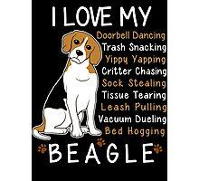 i love beagle  Photographic Print