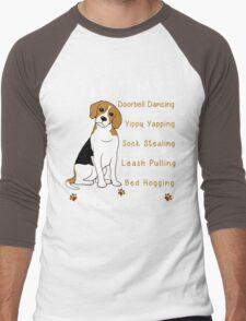 i love beagle  Men's Baseball ¾ T-Shirt