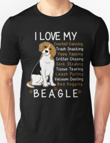 i love beagle  Unisex T-Shirt