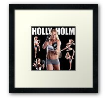 HOLY HOLM UFC CHAMPION Framed Print