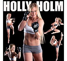 HOLY HOLM UFC CHAMPION Photographic Print
