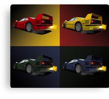 Pop art inspired Ferrari F40 Canvas Print