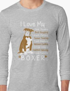 i love my boxer Long Sleeve T-Shirt