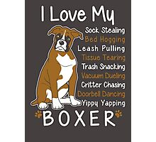 i love my boxer Photographic Print
