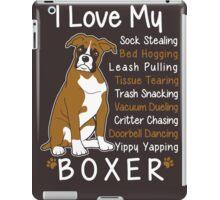 i love my boxer iPad Case/Skin
