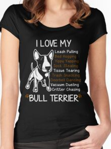 i love my bull terrier Women's Fitted Scoop T-Shirt