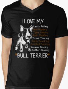 i love my bull terrier Mens V-Neck T-Shirt