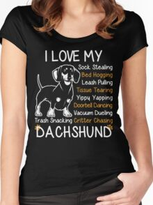 i love my dachshund Women's Fitted Scoop T-Shirt