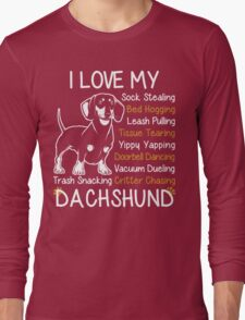 i love my dachshund Long Sleeve T-Shirt